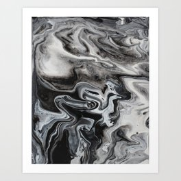 Marble Swirl Art Print