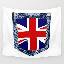 Union Jack Denim Pocket Wall Tapestry