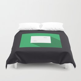 """Dice """"two"""" with long shadow in new modern flat design Duvet Cover"""