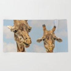 Giraffe Joe Beach Towel