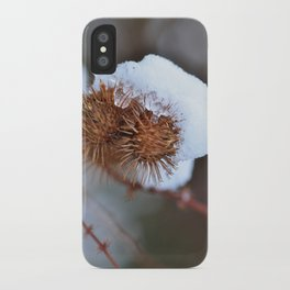 Snowy Burrs iPhone Case