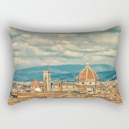 Duomo in Florence Skyline Rectangular Pillow