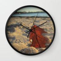 sand Wall Clocks featuring Sand by Jillian Stanton
