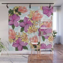 the magnolia Wall Mural