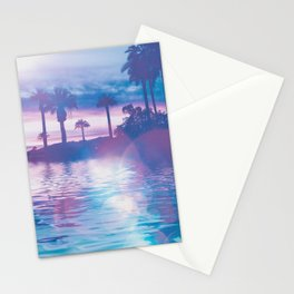 Tropical Paradise In Surreal Light Stationery Cards