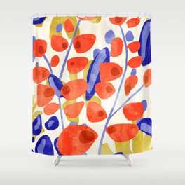 All Good Things Are Wild & Free #painting Shower Curtain