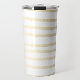 Simply Drawn Stripes Gilded Palace Gold Travel Mug
