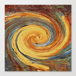 Swirl 03 - Colors of Rust / RostArt Canvas Print