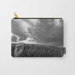 Marker - Old Stone Marker and Storm in Black and White Carry-All Pouch