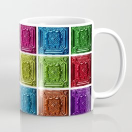 Revolution #9 - Abstract Painting Colored Squares by Jeanpaul Ferro Coffee Mug