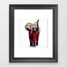 Elephant in the Abstract Framed Art Print