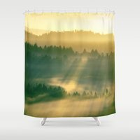 renaissance Shower Curtains featuring Renaissance Morning by artstrata
