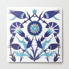 Turkish Tile Art Pattern Metal Print