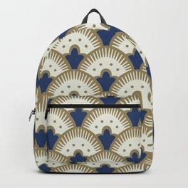 Fan Pattern Blue/Gold Backpack