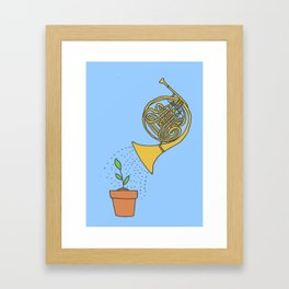 Watering Horn Framed Art Print