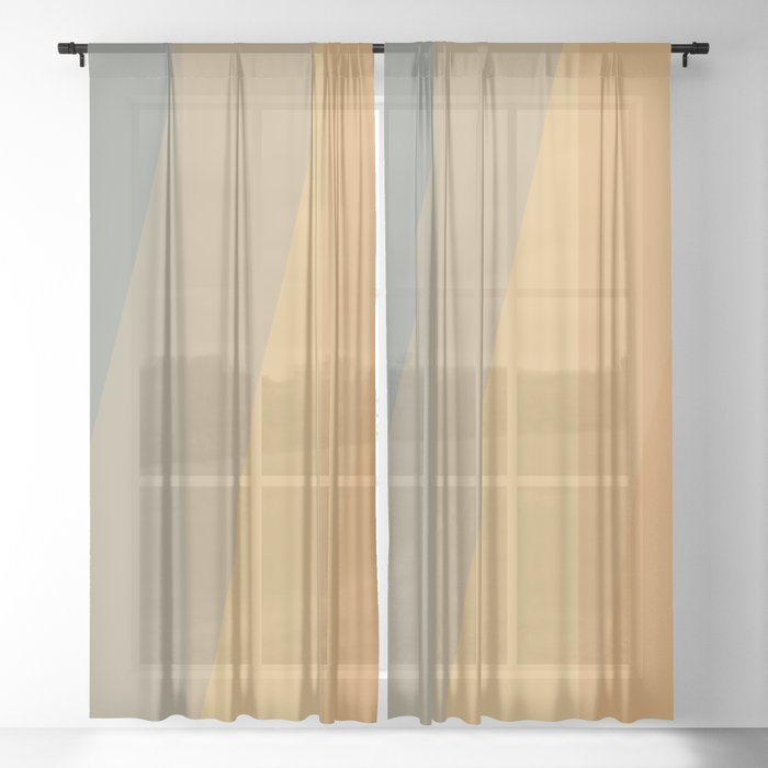 Sunset Hues Sheer Curtain