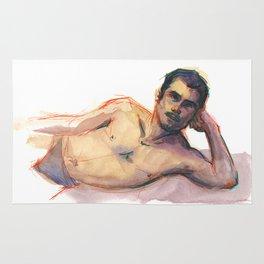 CARLOS, Semi-Nude Male by Frank-Joseph Rug