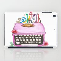 typewriter iPad Cases featuring typeWriter  by Watercolor_2011