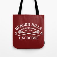 lacrosse Tote Bags featuring Beacon Hills Lacrosse by Dorothy Leigh