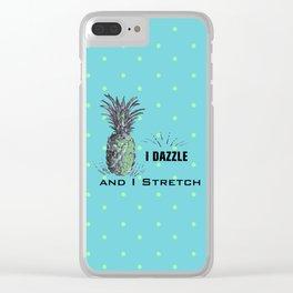 I dazzle & I stretch Clear iPhone Case