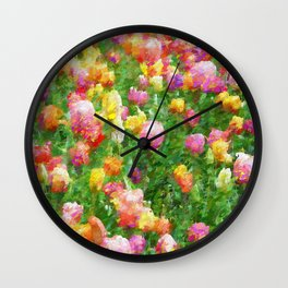 A Vision of Tulips Wall Clock