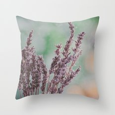 Lavender by the window Throw Pillow