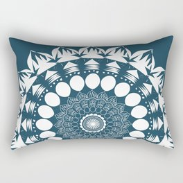 Navy Blue Mandala Rectangular Pillow