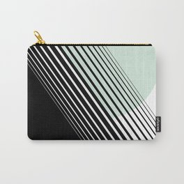 Rising Sun Minimal Japanese Abstract White Black Mint Green Carry-All Pouch