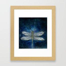 Interstellar Dragonfly Framed Art Print