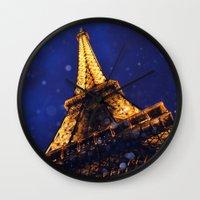 eiffel Wall Clocks featuring EIFFEL by ZakPhotography