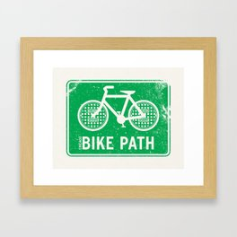 Bike Path - Chicago Framed Art Print