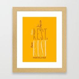 """""""If I Rest, I Rust"""" - Martin Luther (alternate color) Framed Art Print"""