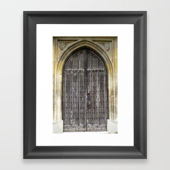 The Church Door Framed Art Print