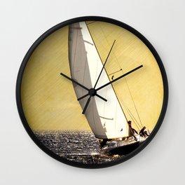 race boat Wall Clock