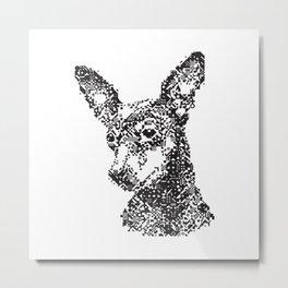 Miniature Pinscher Mosiac Metal Print