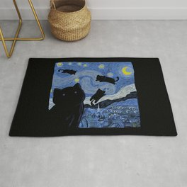 The Starry Cat Night Rug