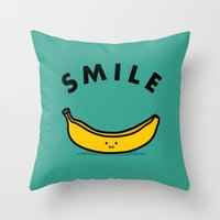 banana Throw Pillows featuring Banana by Jaco Haasbroek