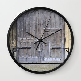 Oxford door 13 Wall Clock