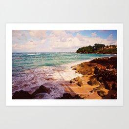 Playa Caliente Art Print