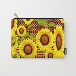 SPICE BROWN SUNFLOWERS ART Carry-All Pouch