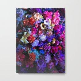 Midnight Flowers Metal Print