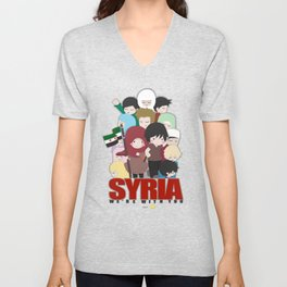 SYRIA - We're With You Unisex V-Neck
