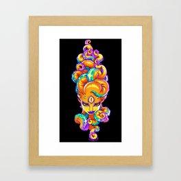 Tentacle Demoness (ORANGE version) Framed Art Print