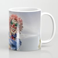 clown Mugs featuring CLOWN by Steve Zar