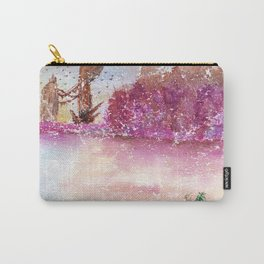 A New World Watercolor Art Illustration Carry-All Pouch