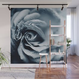Rose - powder blue Wall Mural