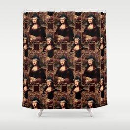 Chicana Mona Lisa Shower Curtain
