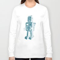 robot Long Sleeve T-shirts featuring ROBOT by Charlotte Dandy