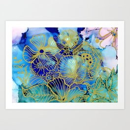 Dilly Floral Art Print