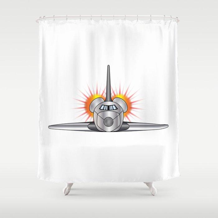 Speeding Space Shuttle Shower Curtain